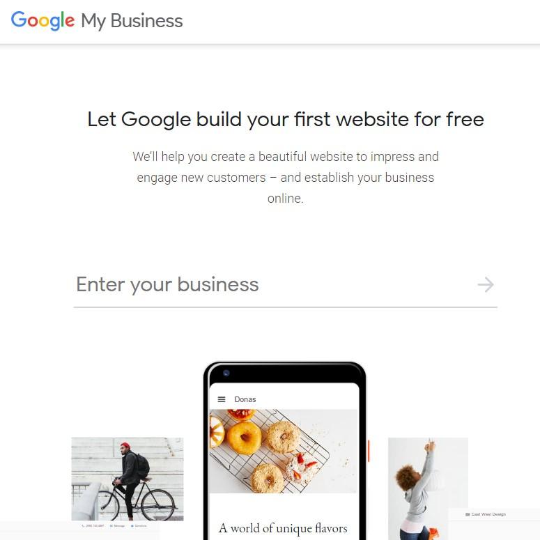 Google My Business Website Builder