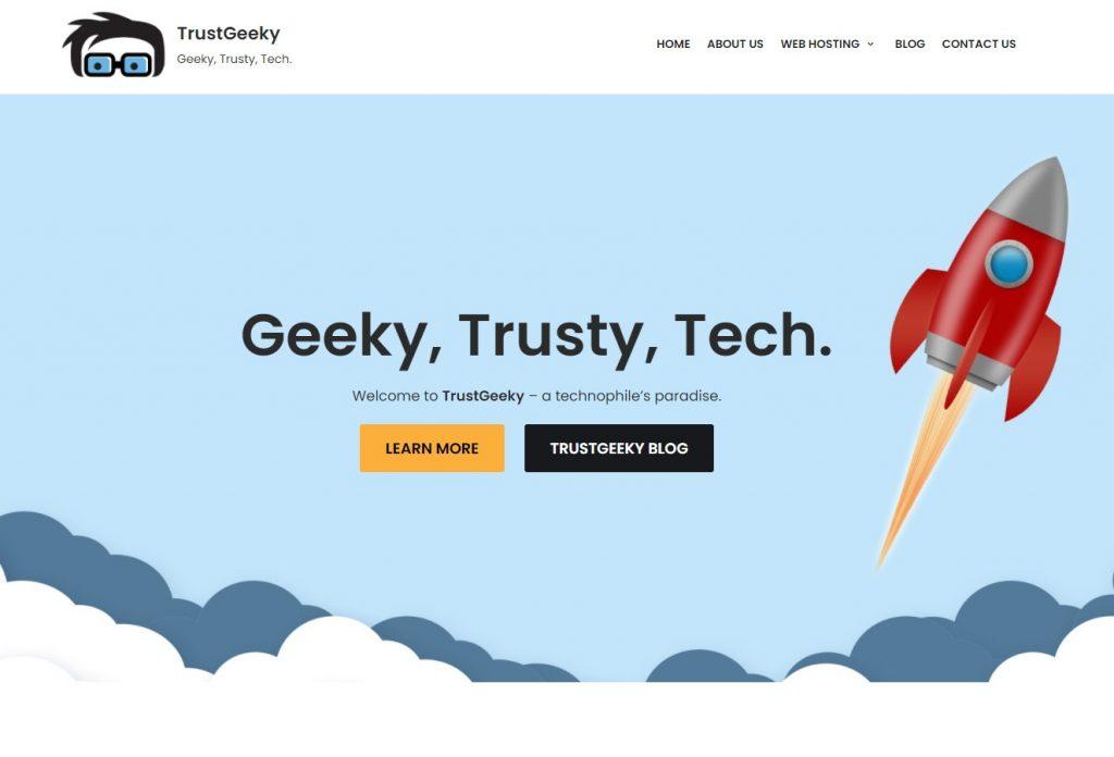 TrustGeeky.com homepage
